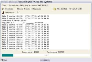 сканирование карты памяти getdataback