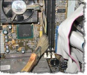 Чистим компьютер от пыли если он не включается