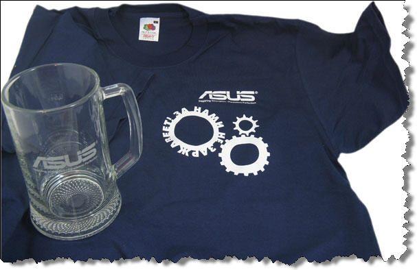 футболка и бокал ASUS