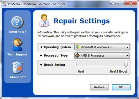 Утилита PCMedic для увеличения быстродействия компьютера