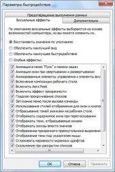 Отключение визуальных эффектов в Windows 7