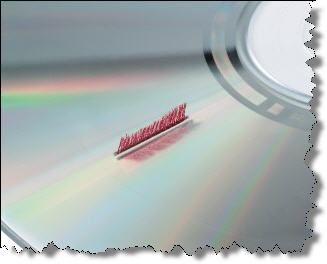 Чистящий диск DVD с щёточками