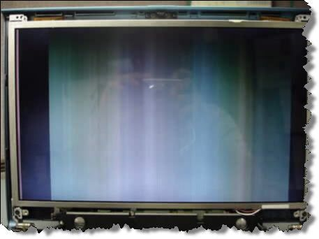 Цветные вертикальные линии на мониторе