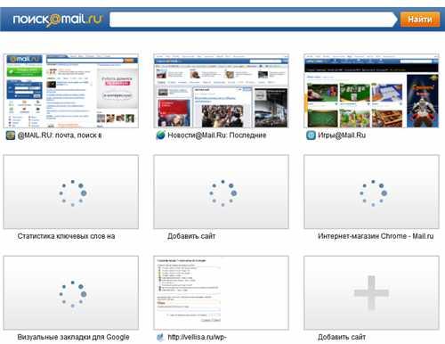 Визуальные закладки mail.ru для google chrome