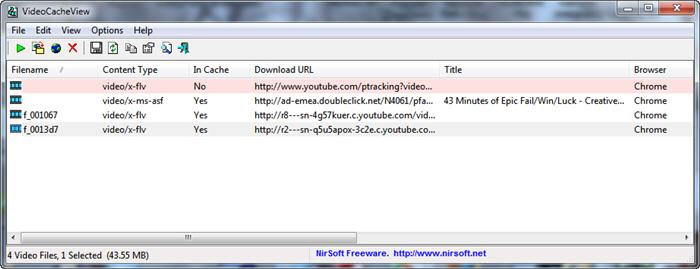 Файлы в кэше Google Chrome