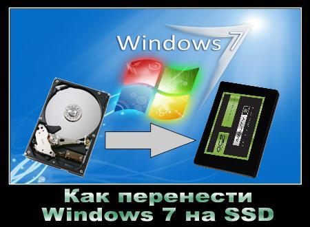 Как перенести Windows 7 на SSD или на другой диск