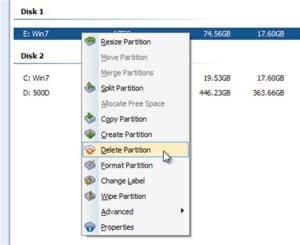 Как удалить раздел на SSD