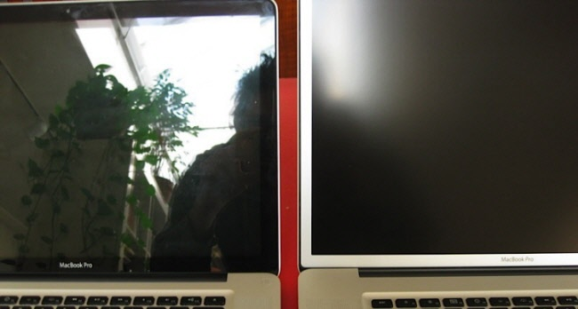 Сравнение глянцевого и матового экранов ноутбуков