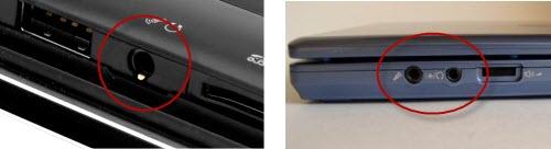 Совмещённый и раздельные вход и выход у ноутбука