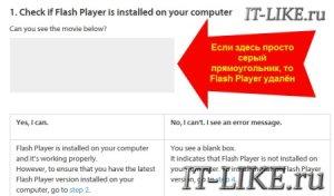 Как проверить работает ли Flash Player