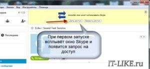 Нужно дать доступ программе к скайпу