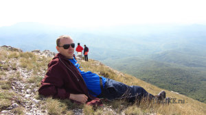Алексей Виноградов на горе Эклизи-Бурун