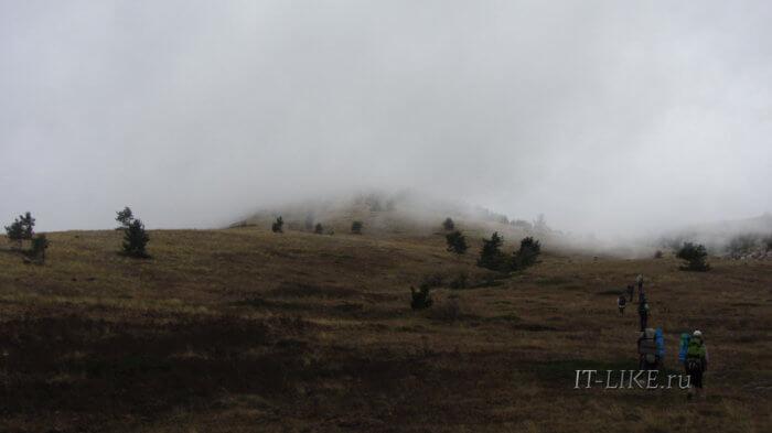 Бабуган-Яйла в облаках