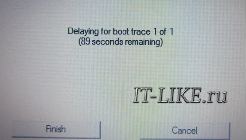 Delaying for boot trace