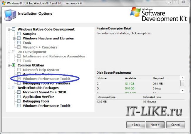 Windows Perfomance Toolkit укоряет загрузку Windows 7