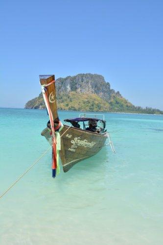 Тайская лодка в океане