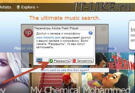 Разрешить Adobe Flash Player