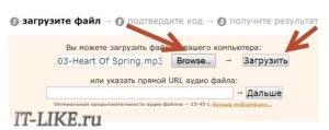 Загрузка файла на сервис
