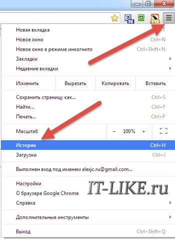 История Google Chrome
