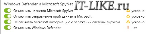 отключить windows defender shutup10