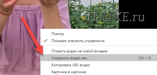 сохранить видео в браузере