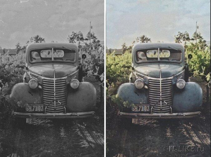 старое фото до и после